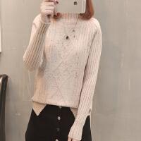 半高领毛衣女士秋冬新款短款毛线衣服加厚韩版宽松套头长袖上衣