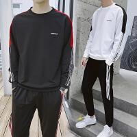 2019春季新款潮牌卫衣套装男士学生长袖T恤青年韩版简约运动装两件套