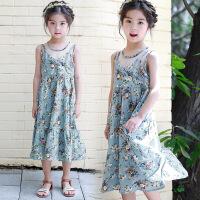 夏装新品童装女童波西米亚吊带儿童沙滩裙度假长裙