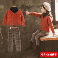 女童冬装2019新款毛衣儿童装宝宝洋气套装韩版潮衣服两件套潮