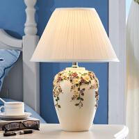 欧式台灯卧室摆件 床头灯台灯 现代简约婚庆装饰品