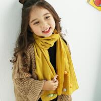韩版春秋季薄款可爱糖果公主女童纯棉围巾冬天保暖小女孩儿童围脖