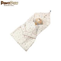 【2件4折 到手价:159】PawinPaw卡通小熊童装新款夏新生儿抱被婴儿包被印花可爱