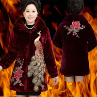 中老年女装棉衣外套加厚妈妈装冬装棉袄老年人50-60-70岁加绒