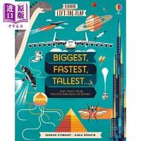 【中商原版】尤斯伯恩翻翻学:大快高壮 Lift-the-Flap:Biggest, Fastest 儿童科普 绘本图书