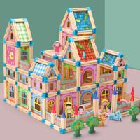 儿童拼插拼装积木木头玩具男孩女宝宝3-4-6周岁5多功能益智力开发