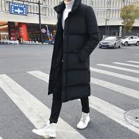 棉衣男外套韩版修身中长款潮流羽绒保暖大衣