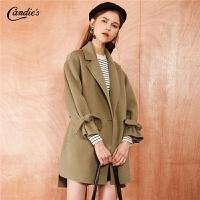 【3折到手价:456】【满399减80】赫本呢子大衣女士冬季新款韩版加厚全羊毛双面呢短款毛呢外套