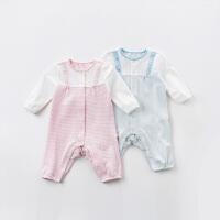 davebella戴维贝拉2018春季新款连身衣婴儿连身衣 DB7626