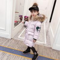 童装女童冬装2018新款棉衣中长款加厚羽绒儿童冬季棉袄外套潮