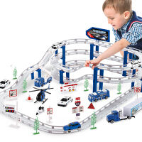 合金轨道车电动赛车小火车停车场跑道汽车赛道玩具