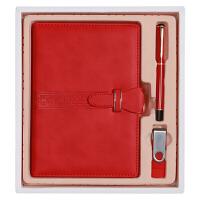 三合(SUNHEY) 商务A5笔记本礼盒三件套(皮面记事本+16GU盘+签字笔)可定制