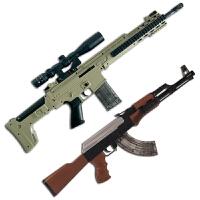 儿童可发射仿真玩具枪AK47电动连发