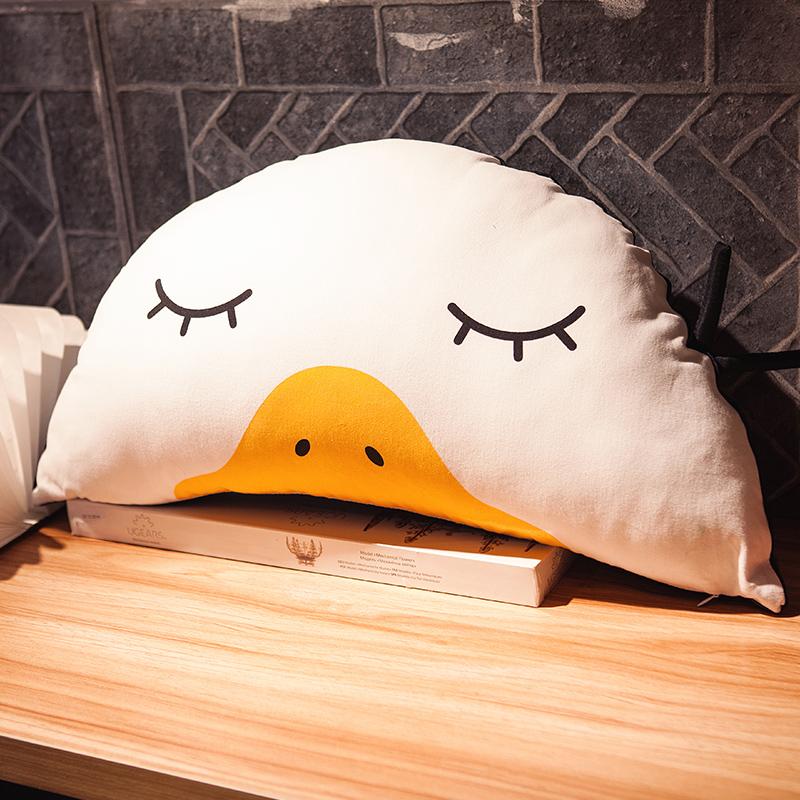 熊猫单人枕头午睡靠垫床上腰靠背抱枕毛绒女生小清新拆洗
