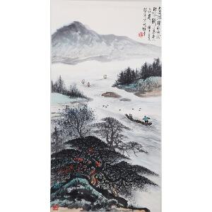 C121黎雄才(附出版)《秋江行舟》