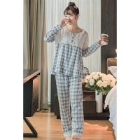 【内衣优选】春季新款韩版梭织棉送眼罩公主睡衣家居服套装