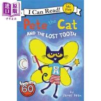 【中商原版】我可以读入门级:皮特猫和遗失的牙齿 My First I Can Read :Pete the Cat an