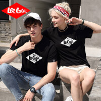 Lee Cooper 青春时尚情侣同款短袖T恤logo印花舒适透气休闲圆领