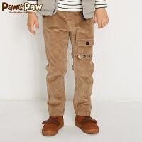 【3件3折 到手价:149】Pawinpaw卡通小熊童装冬男童纯色休闲裤中小童多口袋