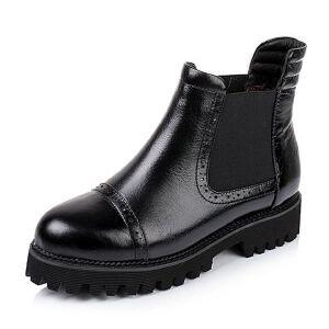 Teenmix/天美意专柜同款牛皮/织物女靴AL66HDD5