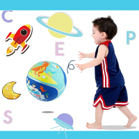 儿童拍拍球 小皮篮球玩具球拍拍球 幼儿园小学男女孩宝宝弹力球