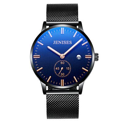 真皮带非机械表手表男士学生男表韩版石英表腕表