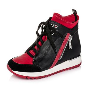 Teenmix/天美意专柜同款牛皮革女皮靴6E740DD5