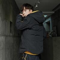 男士外套棉衣冬季2018新款韩版潮流冬天短款帅气棉袄加厚冬装