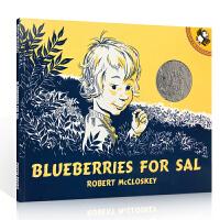 英文原版绘本 凯迪克大奖绘本 Blueberries for Sal: StoryTape 小塞尔采蓝莓 汪培�E英文书