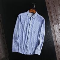 柜子剪标出品衬衫男长袖免烫格纹休闲衬衫春装舒适滑爽衬衣青年款