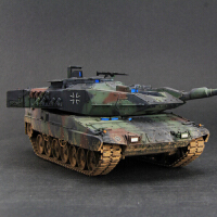 手军事拼装模型仿真1/35坦克世界豹2A6主战坦克