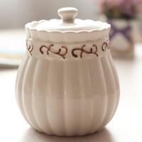 创意调味罐陶瓷调味瓶罐密封罐欧式盐罐调料罐