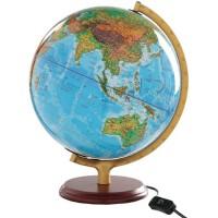 博目地球仪 25cm 高清 中英文地名 灯光 地形地理教学2013版本