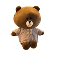 布朗熊公仔抱抱熊大抱熊毛绒玩具女生床上加大号可爱布l熊 布朗熊风衣款 70cm