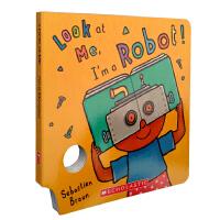 英文原版 Look At Me Mask Book: I'm a Robot! 趣味面具书 亲子幼儿童英语启蒙阅读 送