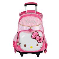 HelloKitty凯蒂猫  小学生女1-3-4年级三轮可爬楼梯拉杆书包儿童双肩背包 SK91008