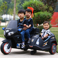 新款可骑儿童电动警车带侧斗大号双驱电动摩托车男女宝宝玩具车可坐人宝宝童车户外运动三轮摩托车生日礼物 配置