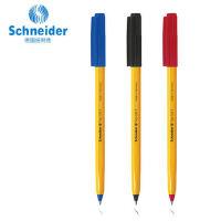 德国Schneider施耐德防水顺滑便携圆珠笔学生考试505F中性笔 10支 大容量圆珠笔原子笔黑红蓝0.5mm