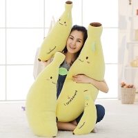 毛�q玩具香蕉抱枕��意公仔交好�\女生睡�X抱著娃娃可�坶L�l靠枕萌