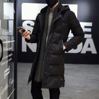 男2018新款冬季中长款外套男士加厚服韩版冬天袄子