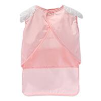 婴儿防水围嘴天使罩衣棉儿童口水围兜宝宝口水巾饭兜反穿衣吃饭衣