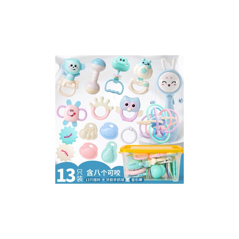 手摇铃婴儿玩具软胶0-3-6-12个月早教智力男孩女孩