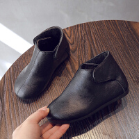 冬季女童雪地靴2019冬新款儿童二棉棉靴子韩版皮靴男童加绒低筒马丁靴秋冬新款