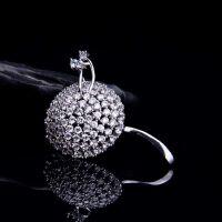 银鎏金淡水珍珠蒲公英胸花胸针女款配饰首饰饰品