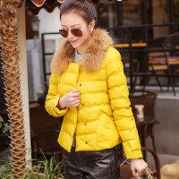 棉衣 女短款新款女装冬装外套韩版棉服薄糖果色休闲小棉袄潮