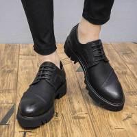 CUM 男士皮鞋商务正装皮鞋休闲鞋内增高潮流婚鞋英伦小皮鞋男鞋子