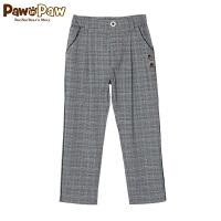 【6折 到手价:275元】Pawinpaw卡通小熊童装新款秋冬男童长裤中小童格纹直筒裤
