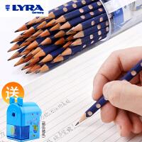 洞洞铅笔HB儿童三角小学生用练字铅笔幼儿园三棱48支桶装