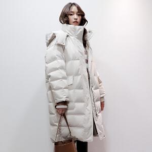 yaloo/雅鹿冬季新款羽绒服女中长款过膝加厚保暖时尚