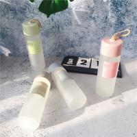 原宿可爱小清新磨砂杯子男女学生韩版水杯创意潮流便携玻璃杯